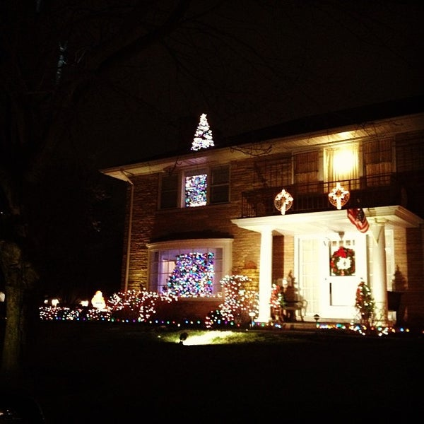 Photo taken at Sauganash holiday lights by John on 12/25/2012 - Photos At Sauganash Holiday Lights - Public Art In Lincolnwood