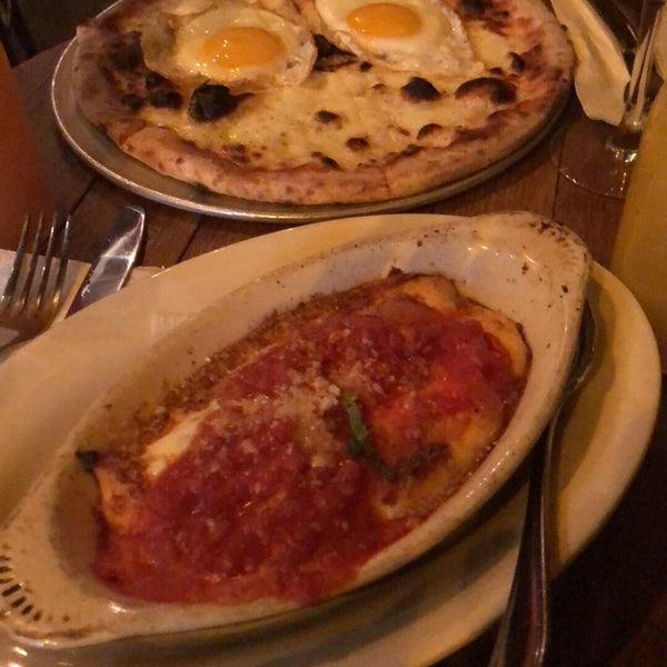 Eggs in purgatory was very tasty. Would recommend!!!The brunch pizza was just ok. Got 2 hours of drinks and finished 3 pitchers and was pretty lit off that for a while