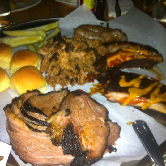 Hungry? President's BBQ  Platter for 4 is a delicious deal.