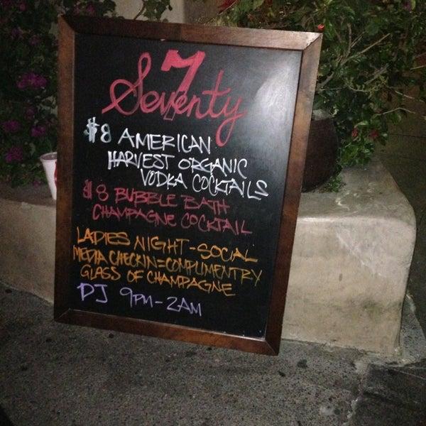 Foto tomada en Seventy7 Lounge por Morgan M. el 3/22/2013