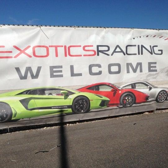 Снимок сделан в Exotics Racing пользователем Bobby K. 10/13/2012
