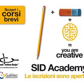 Stiamo organizzando corsi serali di interior, web, inglese e software per designer. InfoDay + aperitivo: mercoledì 17/12. Registrati per l'incontro, ti aspettiamo qui in SID!