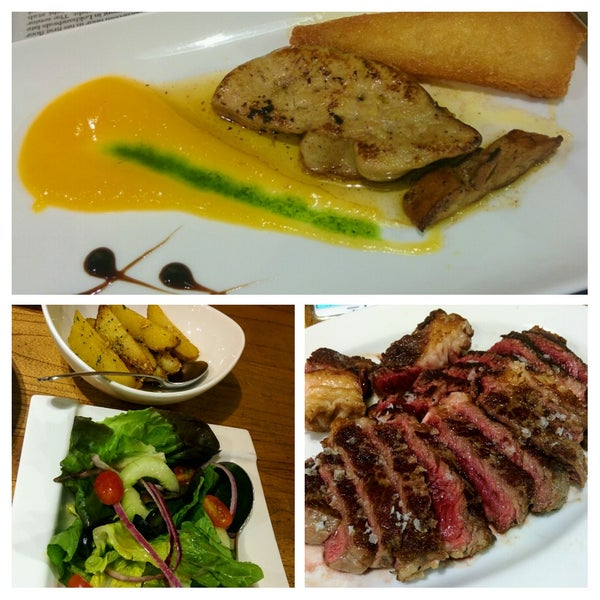 Ribeye 'Txuleta' & 'Grilled Foie Gras' make an excellent dinner combination for two.