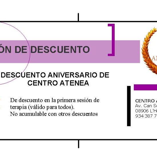 Regalo de 20 aniversario de Centro Atenea Psicólogos en Hospitalet