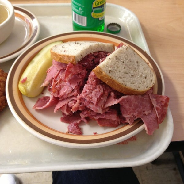 don't get anything else besides the Corned Beef sandwich. it's one of the most famous sandwiches in the world, so don't miss out!