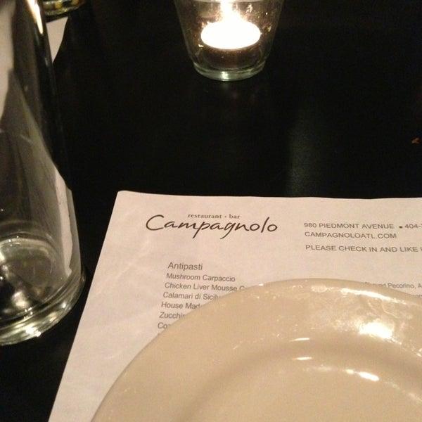 Das Foto wurde bei Campagnolo Restaurant + Bar von JR R. am 1/12/2013 aufgenommen