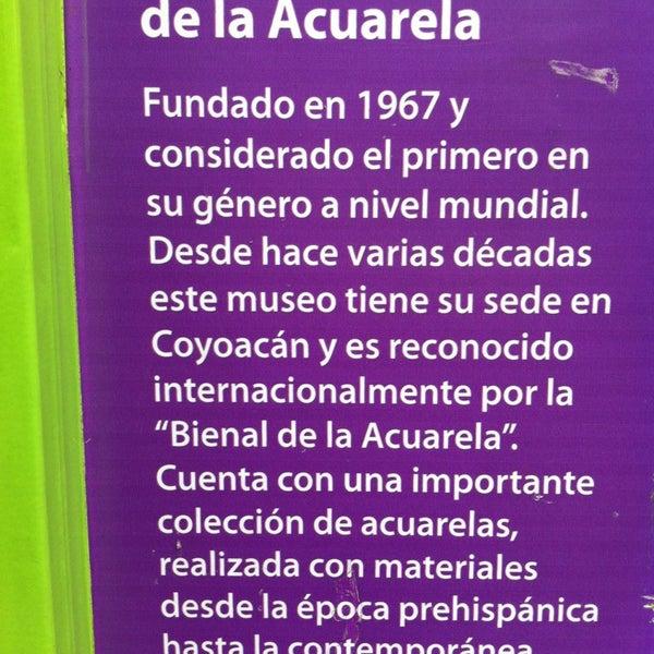 """10/15/2014にE Liz A F.がMuseo Nacional de la Acuarela """"Alfredo Guati Rojo""""で撮った写真"""