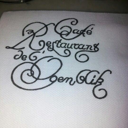 Photo prise au Restaurant de l'Ogenblik par Markus B. le11/10/2012