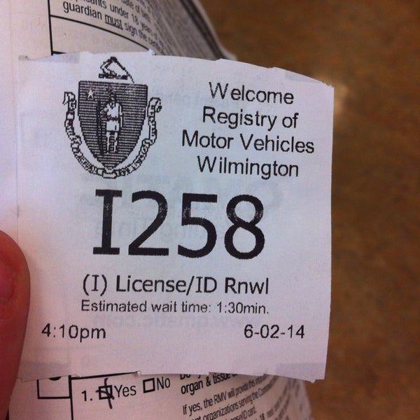 Photo taken at Registry of Motor Vehicles by Julia on 6/2/2014