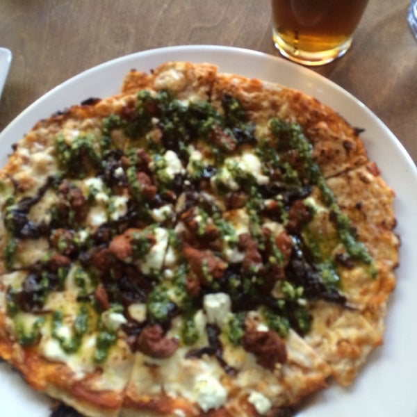 The Spicy Lamb pizza is delicious!