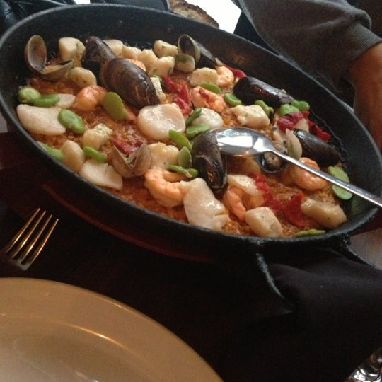 Seafood paellas are my favorites. Sunday brunch has bottomless mimosas for $12! Good to know!