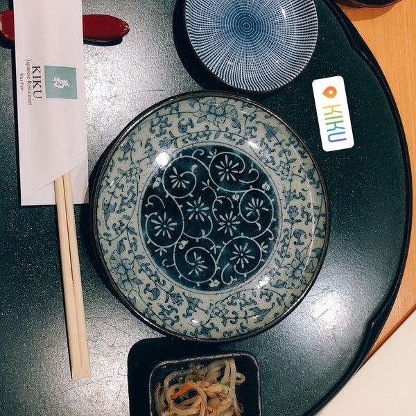 Снимок сделан в Kiku Restaurant пользователем Torrn J. 11/10/2018