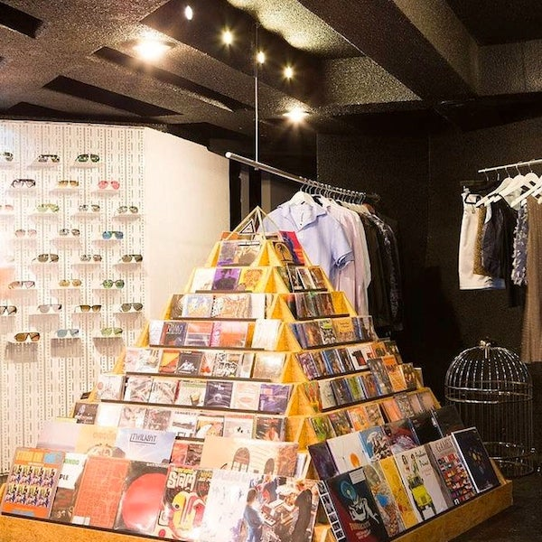 At the city's most exhilarating concept store, a circular staircase connects three floors packed with cutting-edge merchandise from both near (bikes from Rock&Ruedas) and far (THVM jeans from L.A.).