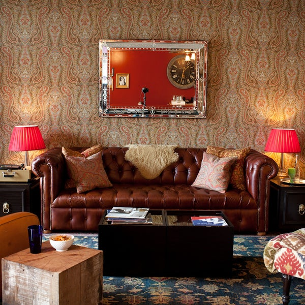 Fashion photographer Matthew Rolston curated the design of this Hollywood hotel, incorporating English upholstery and Suzani bedspreads.
