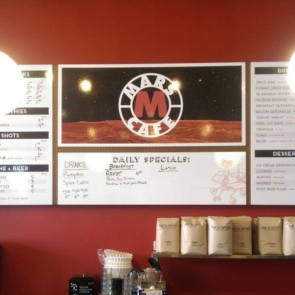 Foto diambil di Mars Cafe oleh Cody G. pada 9/19/2014