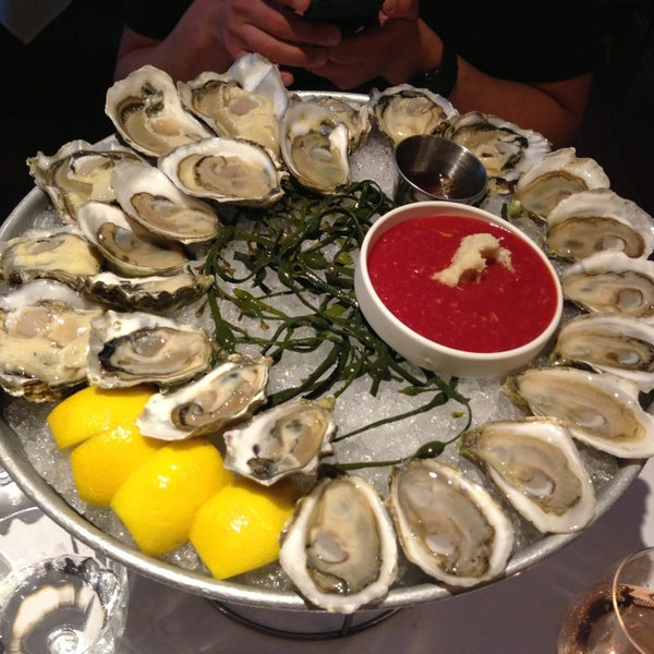 Freshest oysters in town, shucked with care.