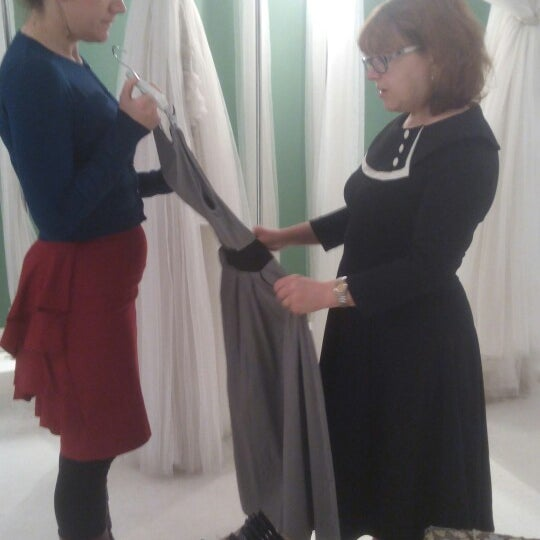 A perfect match of the vintage stile and modern ideas. I forced my wife to enter, then she wanted to buy the  half of their dresses :) i