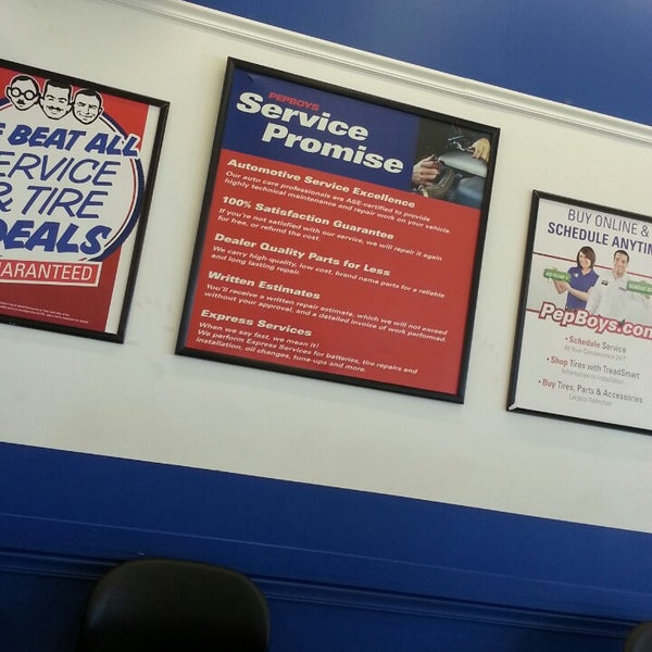 Photo Taken At Pep Boys Auto Parts Service By Jennifer S On 4