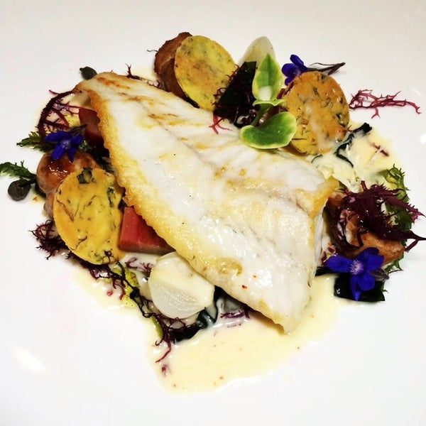 One of the best fish dishes I've ever had. Chef Raphael Francois' #Turbot with bourbon vanilla sauce is ethereal!
