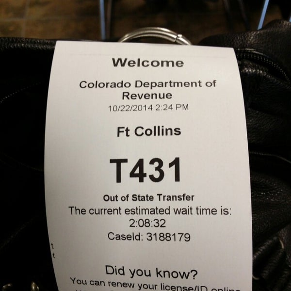 fort collins drivers license appointment