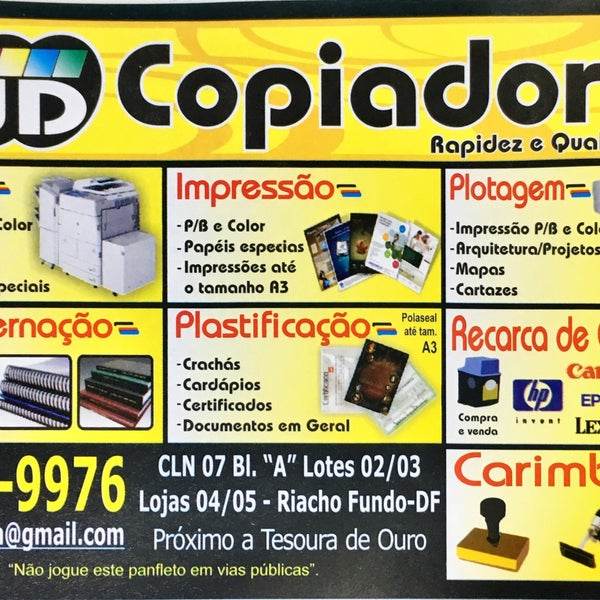 Photos at Copiadora JD - Internet Cafe in Brasília
