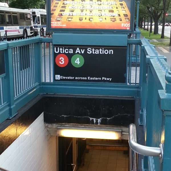 Utica Ave Station Subway Map.Photos At Mta Subway Crown Heights Utica Ave 3 4 Crown Heights