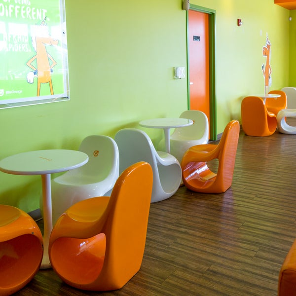 Photo Taken At Orange Leaf Frozen Yogurt   Bloomington By Orange Leaf  Frozen Yogurt   Bloomington