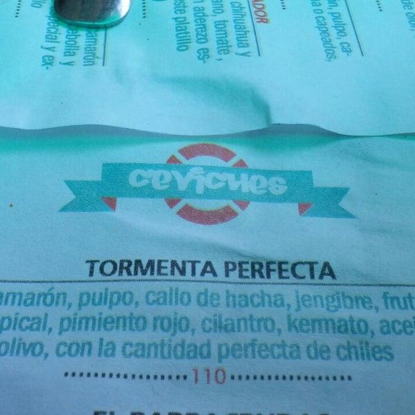 Recomendado el ceviche Tormenta Perfecta!