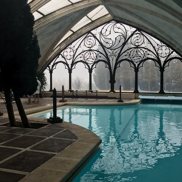 Beautiful hotel with great food. The indoor pool is a sight to see!