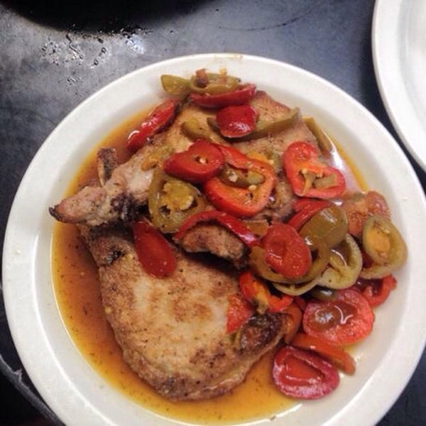 Not only are the dry aged steaks incredible, but so are the pork chops with hot cherry peppers!!!