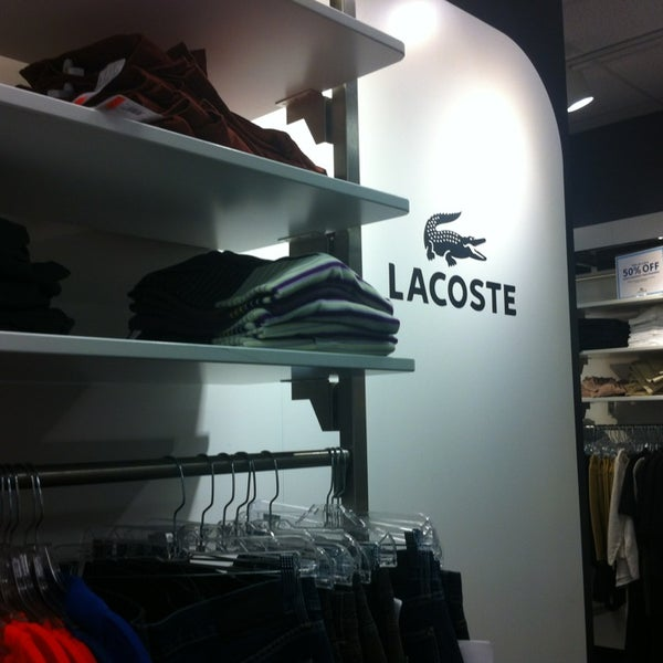 3c2a063a7 Photo taken at Lacoste Outlet by Eric B. on 12 20 2012
