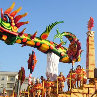 Carnival in southern Tuscany:  the colors of Maremma