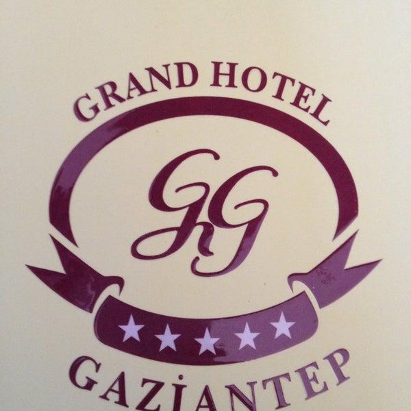 Das Foto wurde bei Grand Hotel Gaziantep von Abdullah Y. am 7/14/2013 aufgenommen