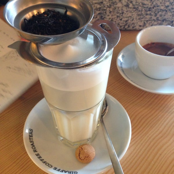 Enjoyed my chai soya latte! (do not taste the small biscuit though)
