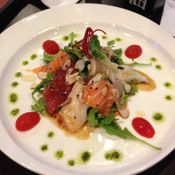 I love the Sashimi salad with citrus vinaigrette. It's so light and refreshing - great for summertime!