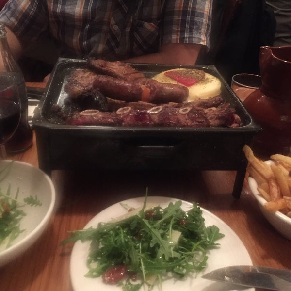 A little taste of Argentina in London! We went in by mistake and it was definitely the best mistake of our night. Mixed barbecue is great!