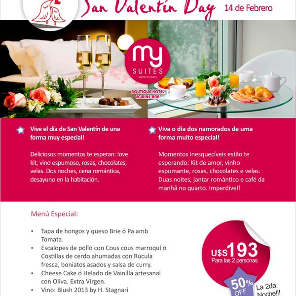 Vive el día de San Valentin de una forma especial!