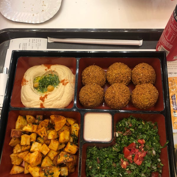 The food is amazing! Best falafel I have ever eaten.