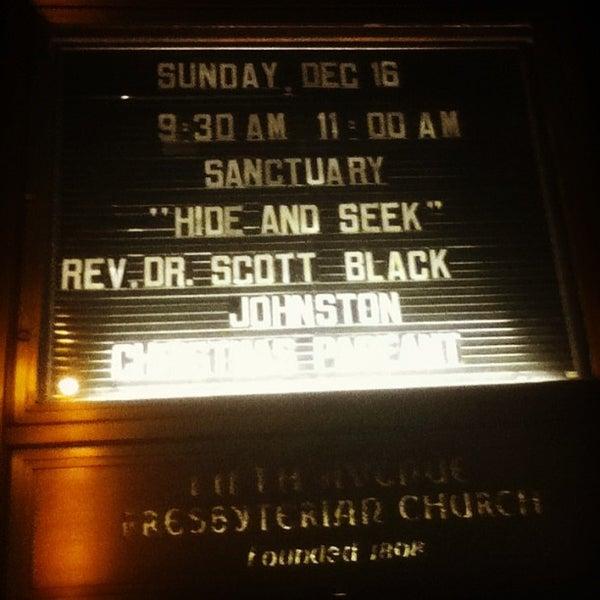 Foto diambil di Fifth Avenue Presbyterian Church oleh Chauncey D. pada 12/17/2012