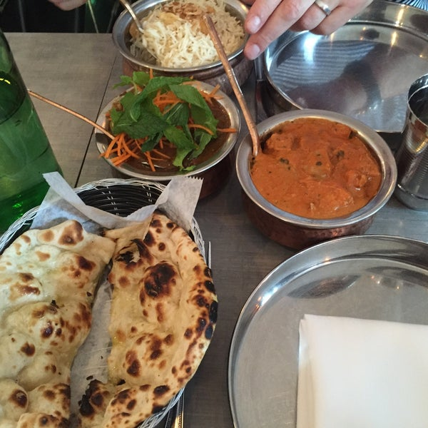 Wonderful Indian streetfood vibe. Very busy and crowded but great food!