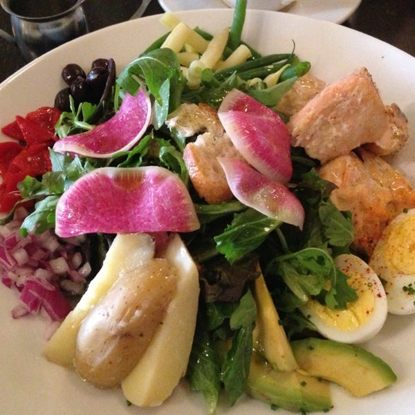 The Salmon Niçoise Salad is delicious!