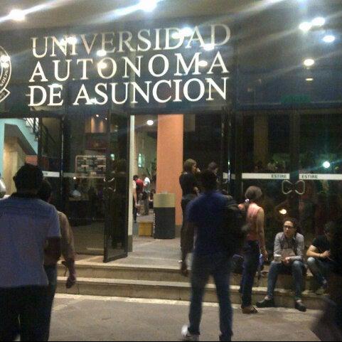 Снимок сделан в Universidad Autónoma de Asunción пользователем Javier P. 10/7/2013