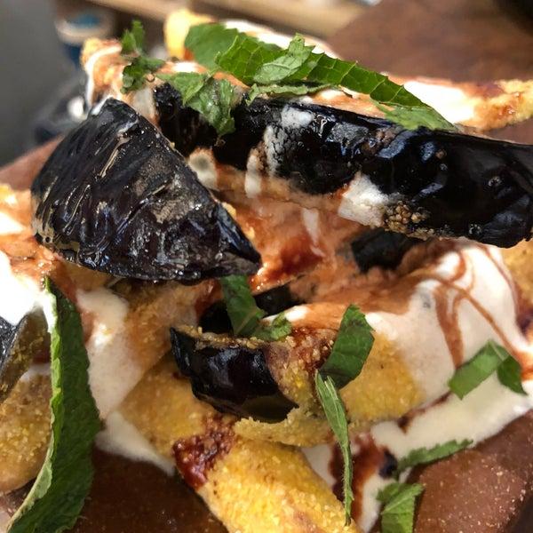 Crispy aubergine, whipped feta & date molasses. That eggplant texture is somethings else.