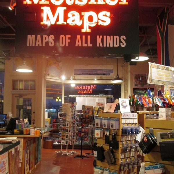 Inside the map store.