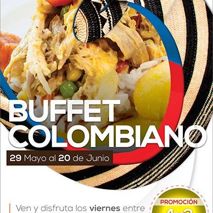 """""""Lo mejor de la gastronomía mundial se toma Villavicencio"""" no lo olvides este y todos los viernes hasta el 20 de junio Disfruta nuestro Bueffet Colombiano."""