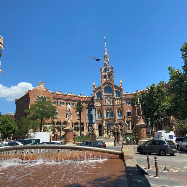 Photo taken at Sant Pau Recinte Modernista by Victoria S. on 7/14/2021