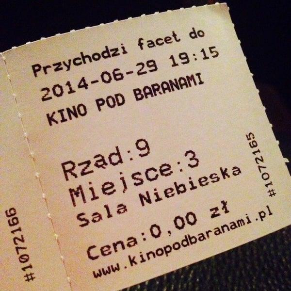 Foto tomada en Kino Pod Baranami por Weronika🐼 el 6/29/2014