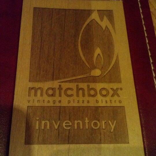 Das Foto wurde bei Matchbox Vintage Pizza Bistro von Double A. am 12/24/2012 aufgenommen