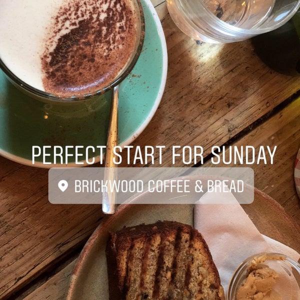 Foto diambil di Brickwood Coffee & Bread oleh Laura K. pada 5/6/2018