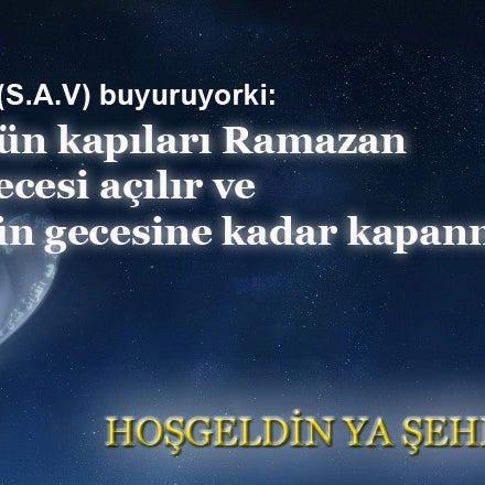 Bereketin,sabrın,hoşgörünün ayı,Rabbimizin bizim dualarımızı reddetmeyeceğini müjdelediği bizim için olan ay,Ramazan ayı hoş geldin.Sevdiklerinizle beraber bayramına ve nicelerine ulaşmanızı dileriz.